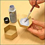 Photograph showing step 1 of how to make a Hindeloopen-style painting