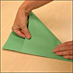 Photograph showing step 1 of how to make an origami box